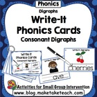 Write-It Phonics Cards for Consonant Digraphs