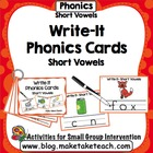 Write-It Phonics Cards for Short Vowels