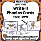 Write-It Phonics Cards for Vowel Teams