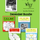 Write My Way lessons for beginning writers DECEMBER Bundle