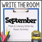 Write On!  {18 Math & Literacy Write the Room Activities-