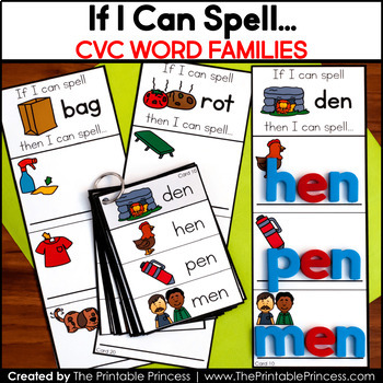 Write On, Wipe Off - If I Can Spell... CVC Short Vowel Word Building Cards