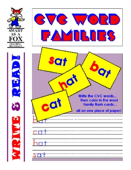 Write & Read - CVC Word Families