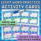 Write, Wipe and Make Cards Dolch Pre-Primer Winter Edition