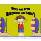 Write and Draw Diphthongs and Soft C and G Pack