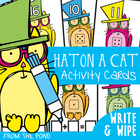 Write and Wipe Cards - Hat on a Cat - Counting On - Addition