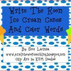 Write the Room Ice Cream Cones and Color Words