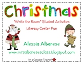 Write the Room Literacy Center Student Activities - Christ