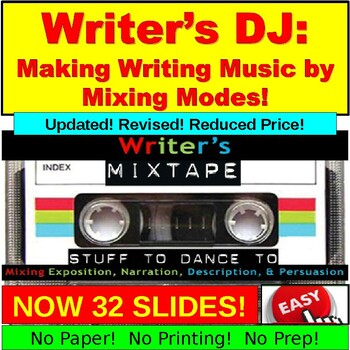 Writer's Mixtape: Exposition, Narration, Description, Persuasion
