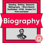 Biography, A Student Guide: Social Studies, Writing