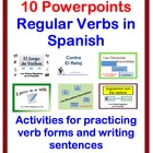 Writing Activites for Regular Verbs in Spanish (10 Powerpoints)
