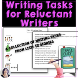 Writing Activities for Reluctant Writers: from lists to stories