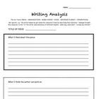 Writing Analysis Graphic Organizer - 6 Traits