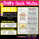 First Grade Writing - April Quick Writes - Writing Practic