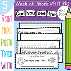 Writing Booklet - Can you see the - 5 Days of Activities W