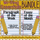 Writing Bundle:  Paragraph of the Week and Essay of the Month