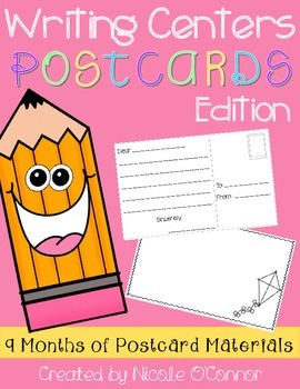 http://www.teacherspayteachers.com/Product/Writing-Center-Postcards-Edition-1360621