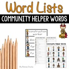 Writing Center Tools- Community Helper Words