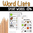 Writing Center Tools- Sport Words