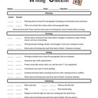 Writing Checklist - Students Check off Writing Process Ste