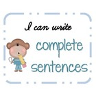 Writing Complete Sentences: Subject, Predicate, Sentence,