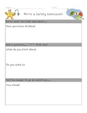 Writing Conclusions Graphic Organizer