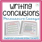 Writing Conclusions {Lesson and Interactive Notes}