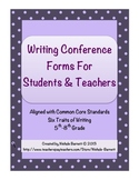 Writing Conference Forms for Teachers & Students