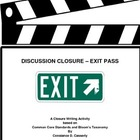 "Language Arts Activity - "" Exit Pass"""