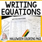 Writing Equations Coloring Worksheet