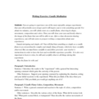 Writing Exercise & Activity  CANDLE FLAME MEDITATION