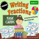 Writing Fractions Task Cards for Grades 2-4 {FREEBIE}
