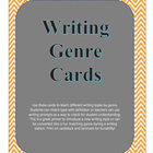 Writing Genre Cards