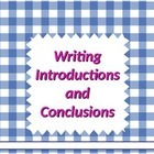 Writing:  Introductions & Conclusions