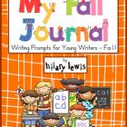 Writing Journal - Fall Edition with Prompts and Pictures f