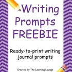 Writing Journal Prompt FREEBIE