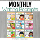 Writing Journal Prompts Month by Month Bundle