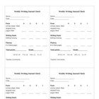 Writing Journal and Reader's Notebook Rubric