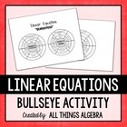 Writing Linear Equations - Bullseye Activity