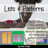Writing Lists and Patterns by Kim Adsit aligned with Common Core