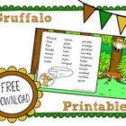 The Gruffalo Story Printables for Kindergarten (CCSS Activities)