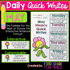 First Grade Writing - May Quick Writes - Writing Practice