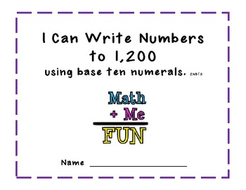 Writing Numbers to 1,200 Practice Packet