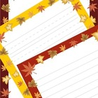 Writing Paper: Fall Leaves! Three Different Autumn Colors