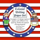 Colonial Writing Paper Set - Hornbook, Scroll, Torn Edge &