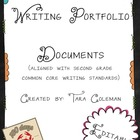 Writing Portfolio Editable documents (Common Core aligned)