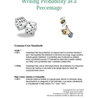 Writing Probability as a Percentage Lesson Plan