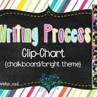 Writing Process Clip Chart {Bright/Chalkboard}