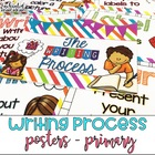 Writing Process Posters Colorful Stripe - Easy for Kinders
