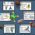 Writing Process Steps Animal Posters Bulletin Board (Beani